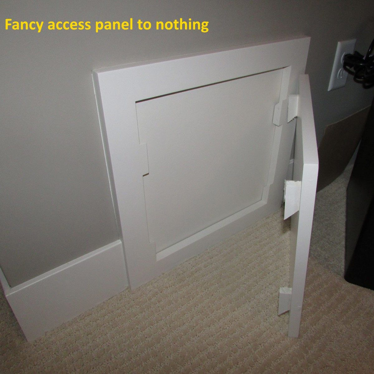 Fancy access panel to nothing