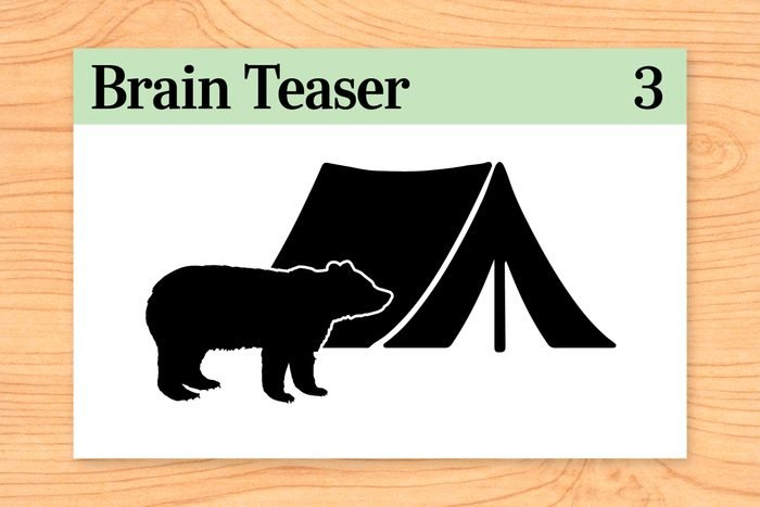 I left my campsite and hiked south for 3 miles. Then I turned east and hiked for 3 miles. I then turned north and hiked for 3 miles, at which time I came upon a bear inside my tent eating my food! What color was the bear?
