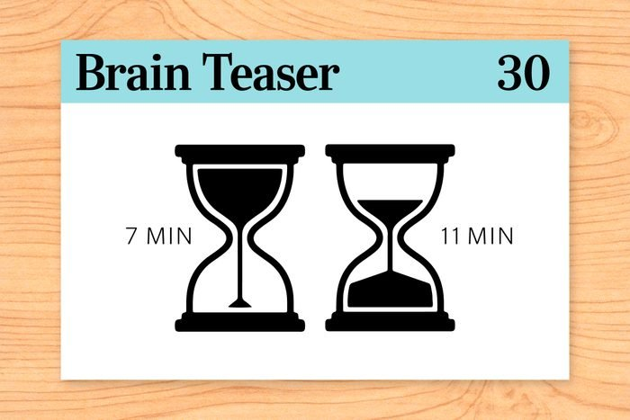 If you have a 7-minute hourglass and an 11-minute hourglass, how can you boil an egg in exactly 15 minutes?