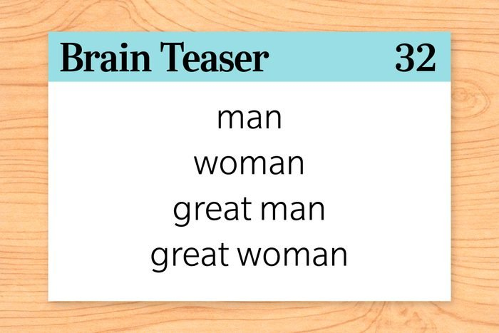 There is a word in the English language in which the first two letters signify a male, the first three letters signify a female, the first four signify a great man, and the whole word, a great woman. What is the word?