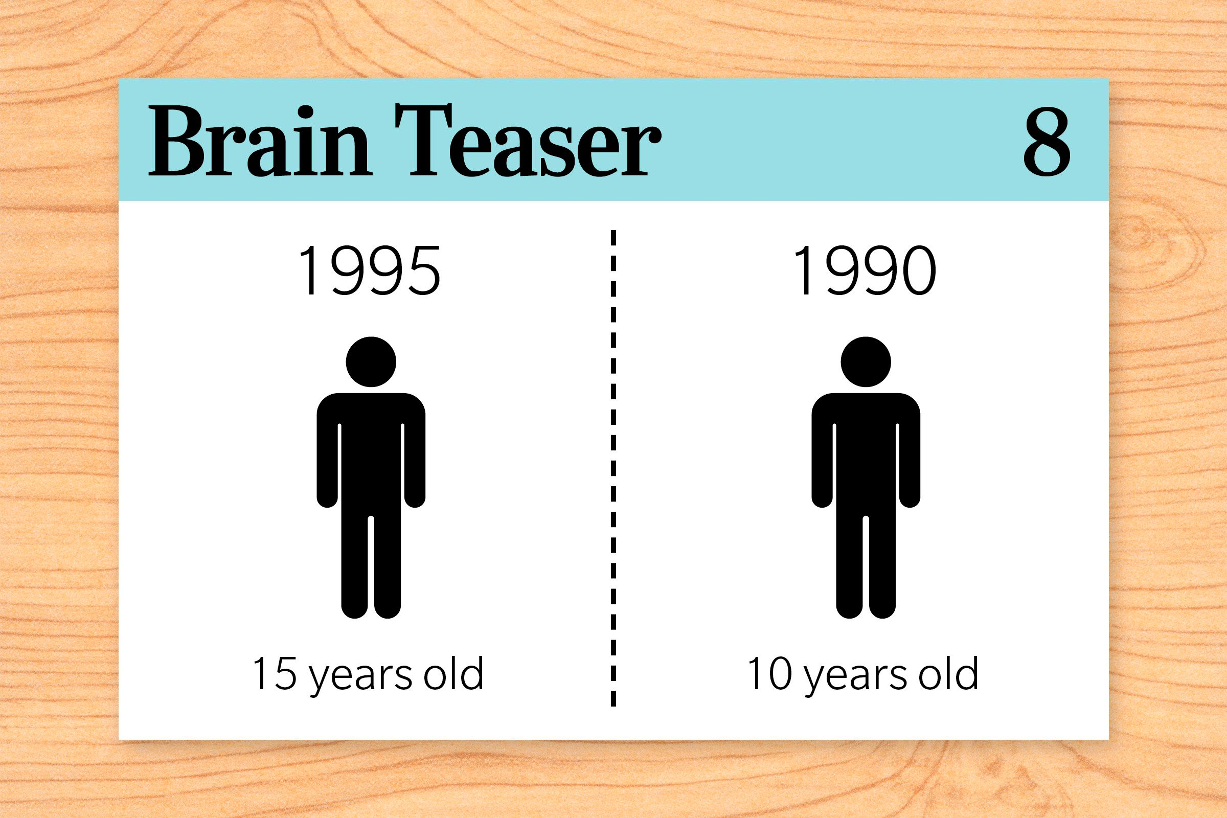 In 1990, a person is 15 years old. In 1995, that same person is 10 years old. How can this be?