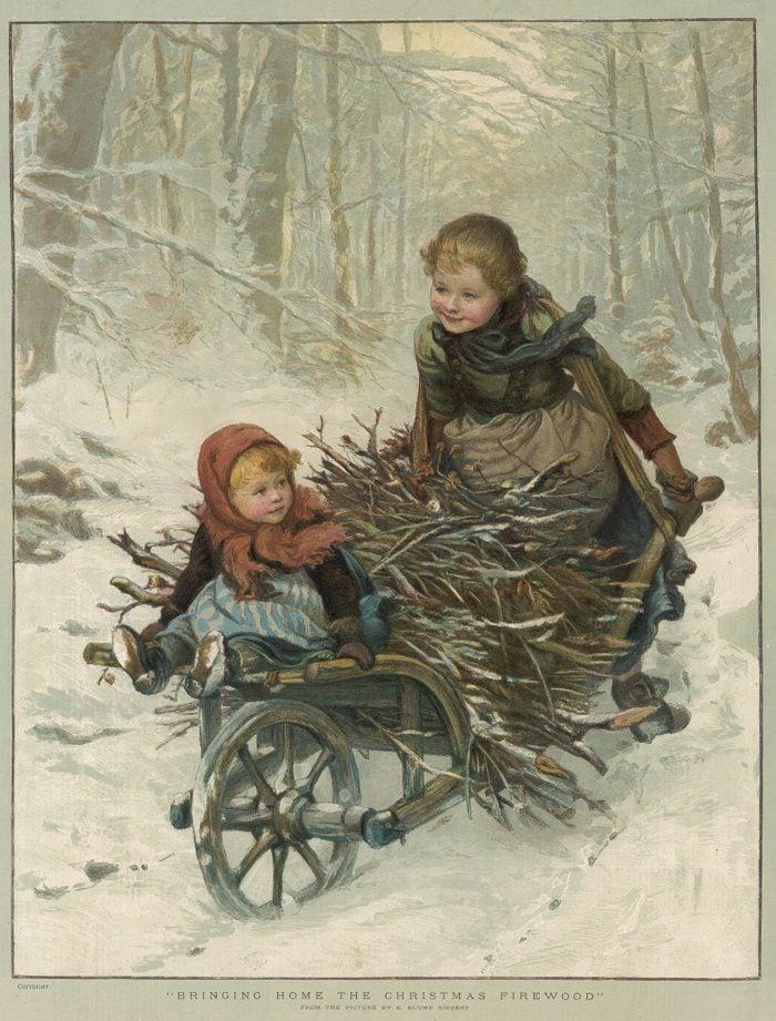 Christmas children unattended