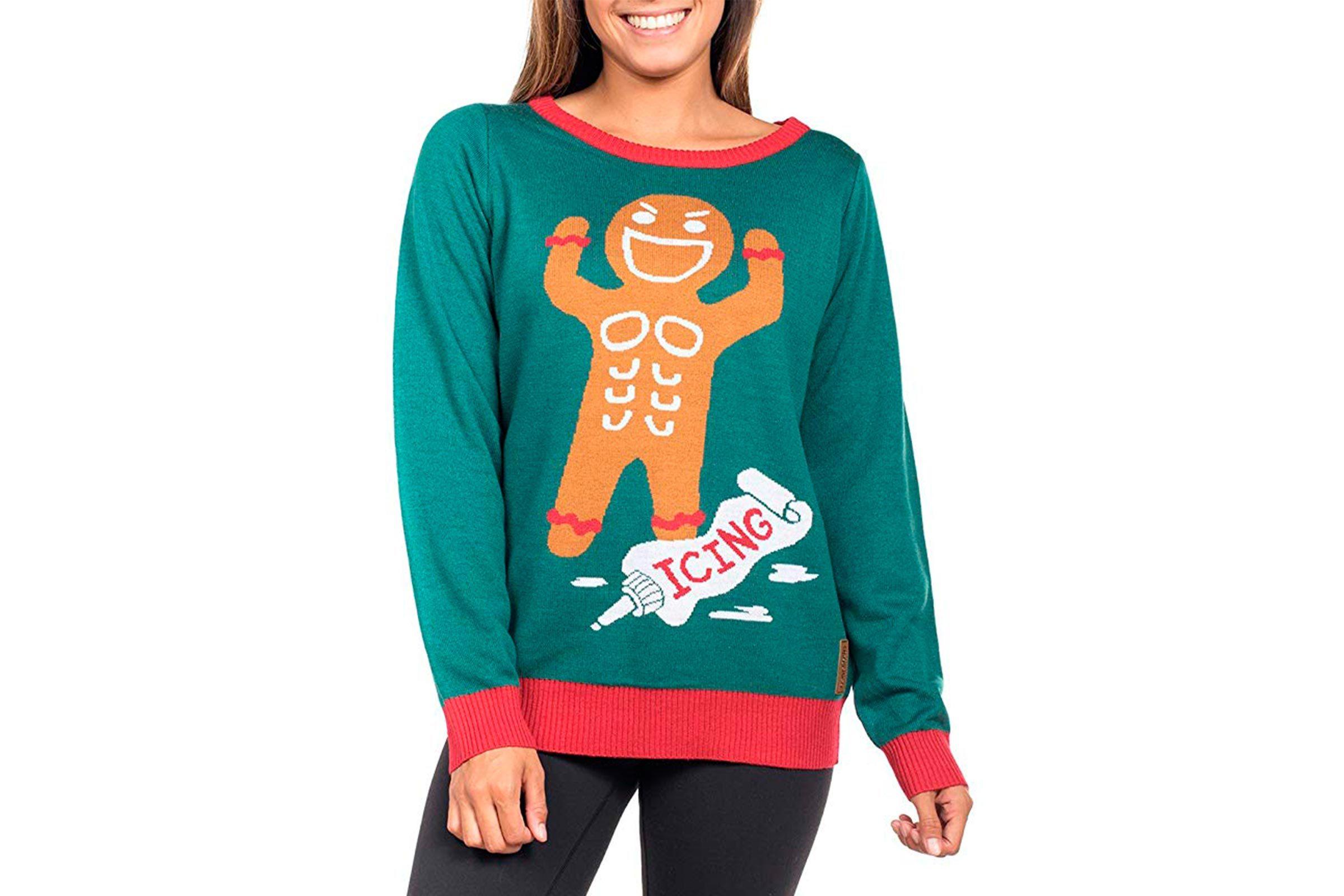 Gingerbread man Christmas sweater