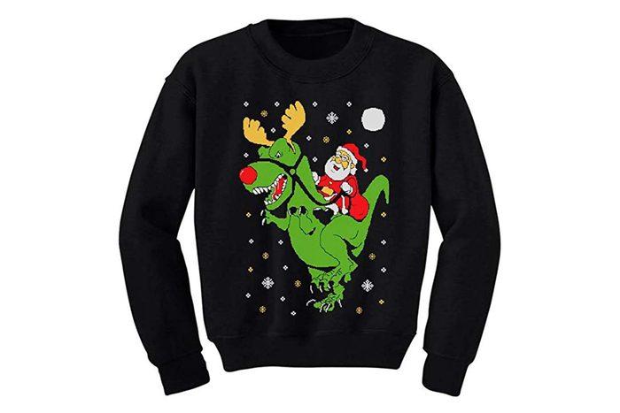 Dinosaur Christmas sweater