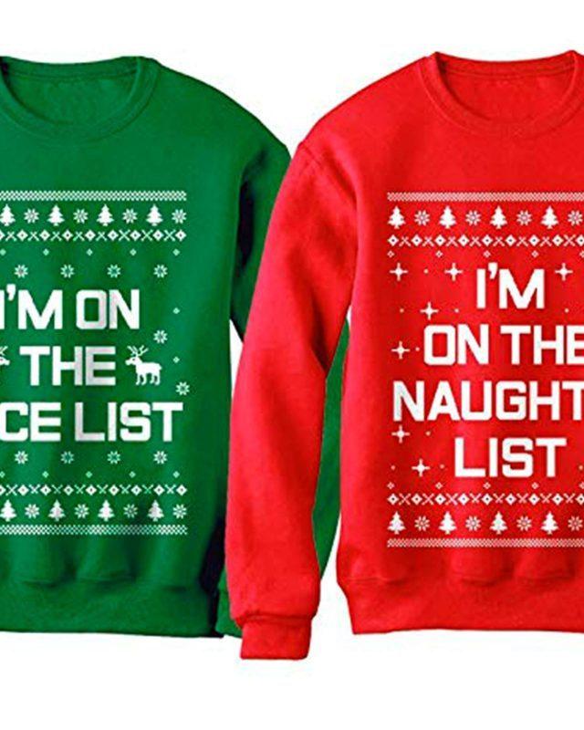 Christmas sweater nice and naughty list