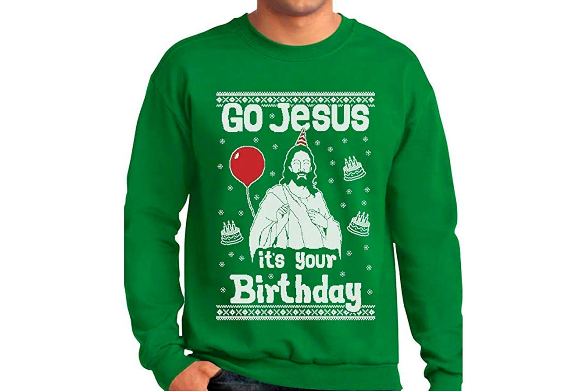 Christmas sweater Jesus birthday