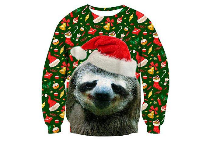 Sloth Christmas sweater