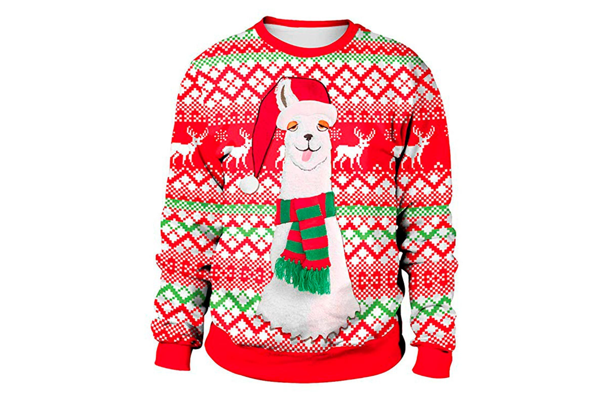Llama Christmas Sweater.The Best Funny Ugly Christmas Sweaters You Can Buy
