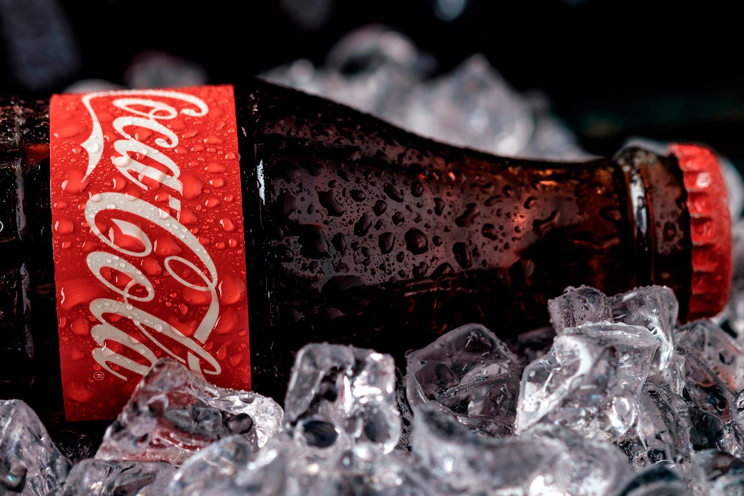 Coca cola on ice