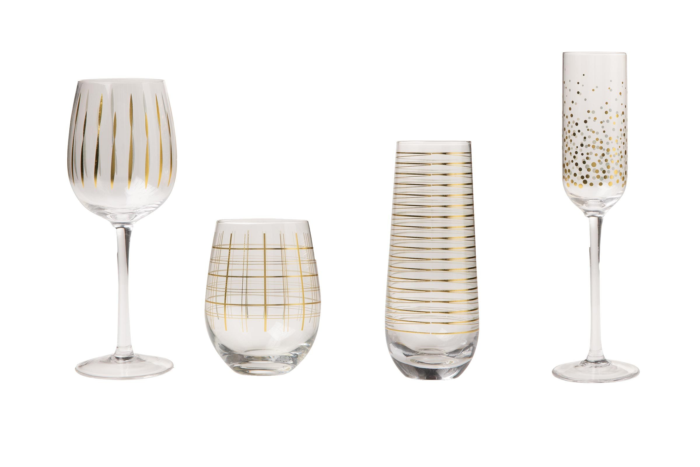 Crofton 4pk wine or champagne glasses