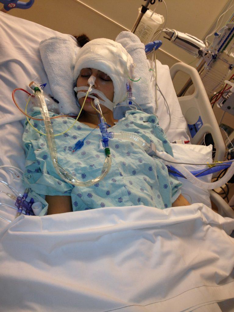 Dina after surgery