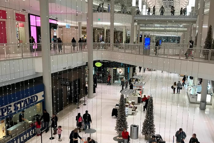 Mall of America holiday decorations