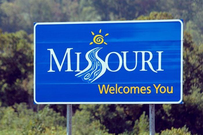 Missouri Welcome Sign
