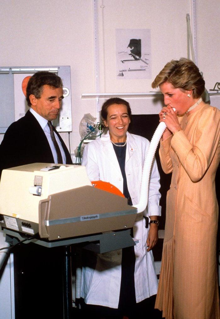 Princess Diana at Brompton Hospital
