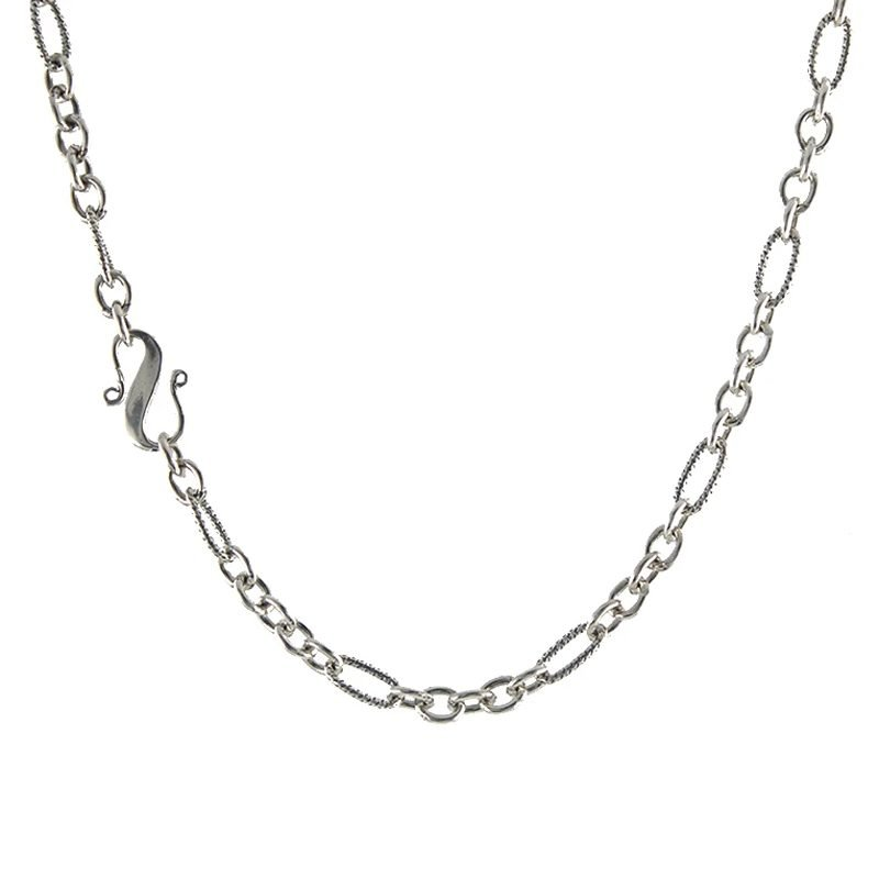 Peggy Li S-Clasp Mixed Link Necklace