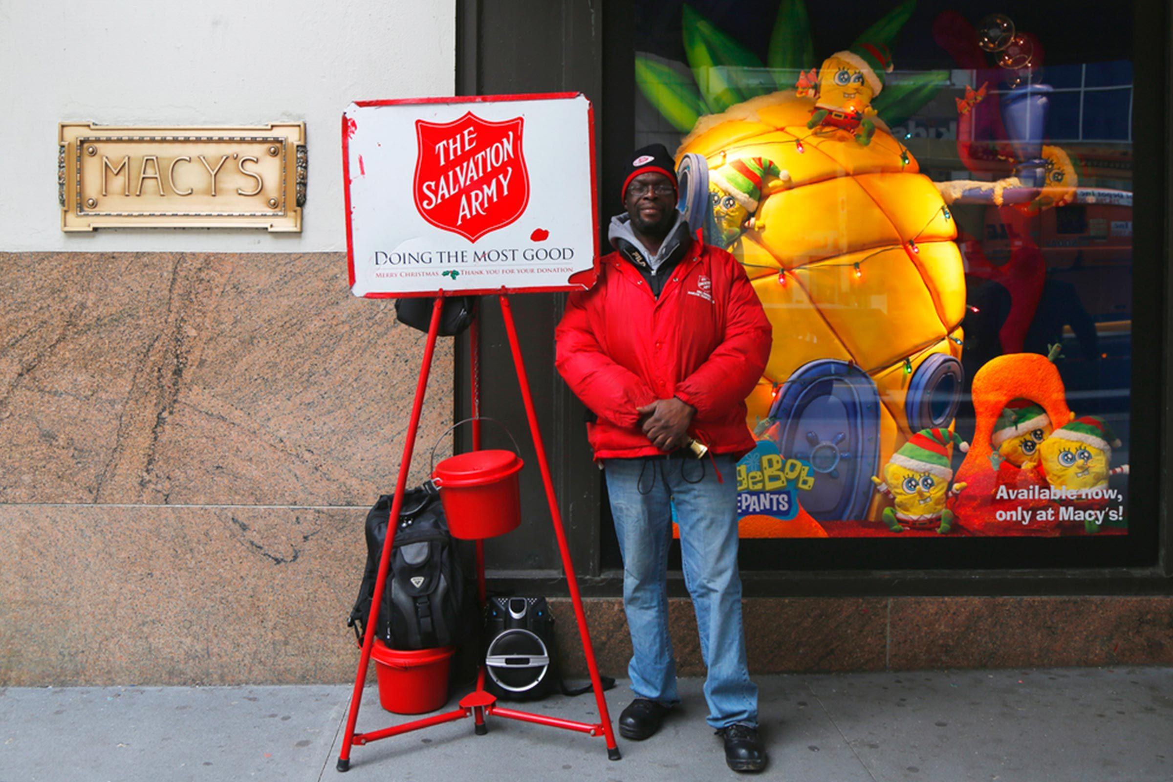 Salvation army red bucket