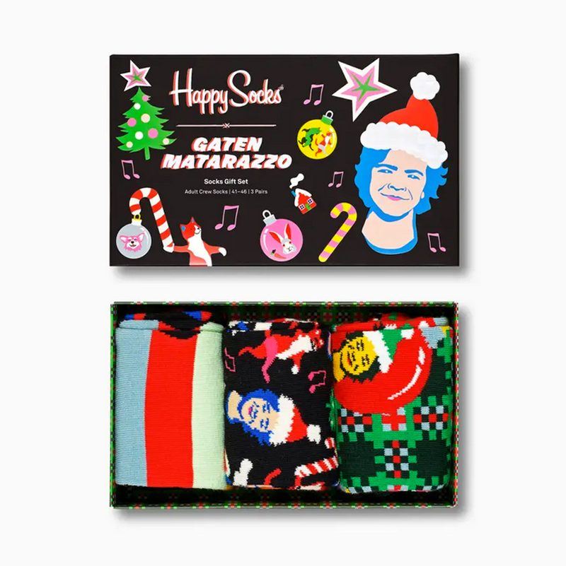 Gaten Matarazzo x Happy Socks Holiday Gift Box 3-Pack