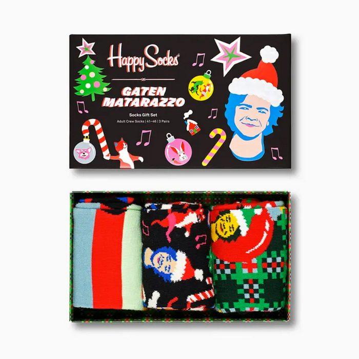 Gaten Matarazzo x Happy Socks Holiday Gift Box 3-Pack