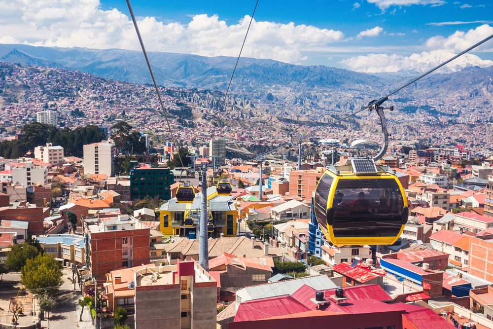 Mi Teleferico is an aerial cable car urban transit system in the city of La Paz, Bolivia.