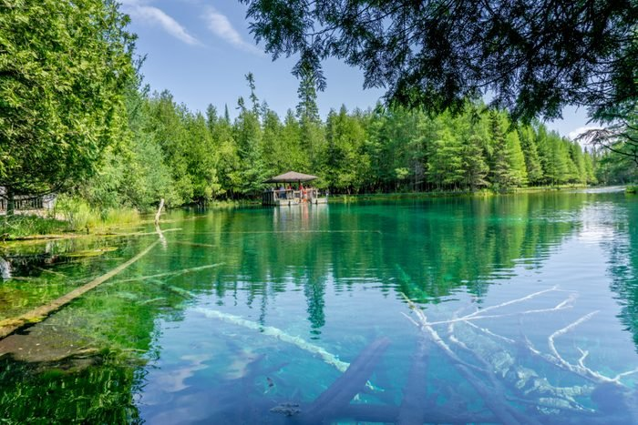 Breathtaking Kitch-iti-kipi Natural Springs in Manistique, Michigan