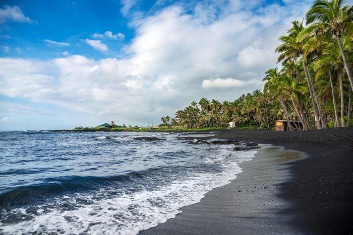 Punaluu black sand beach, Big Island, Hawaii