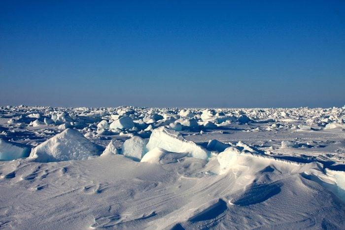 Sea ice off the coast of Barrow, Alaska