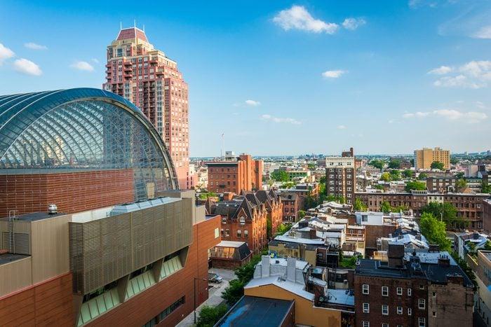 View of buildings in the Center City of Philadelphia, Pennsylvania.