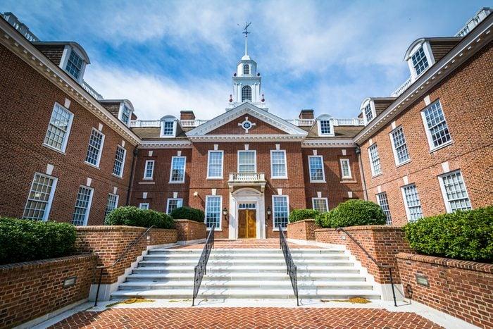 The Delaware State Capitol Building in Dover, Delaware.