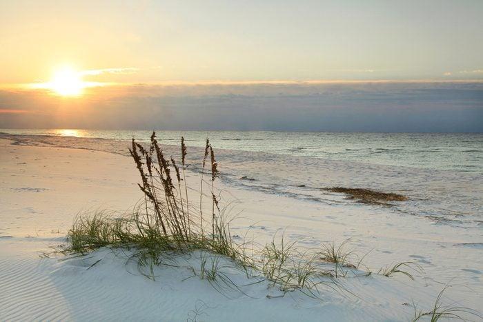 Sunrise on White sand Florida Beach