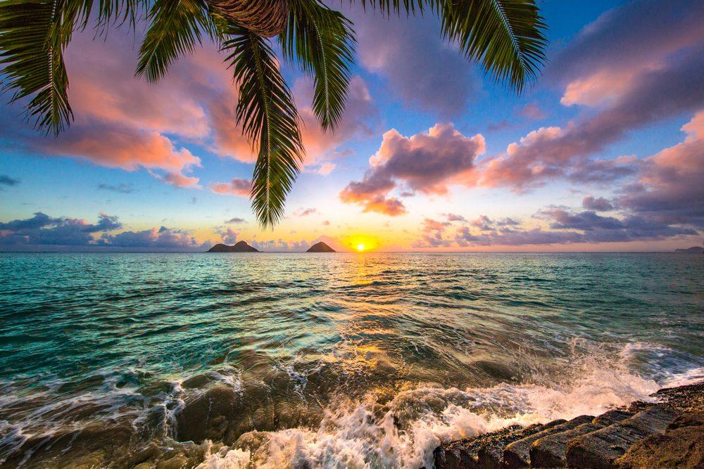 Beautiful Lanikai, Kailua Sunrise in Hawaii