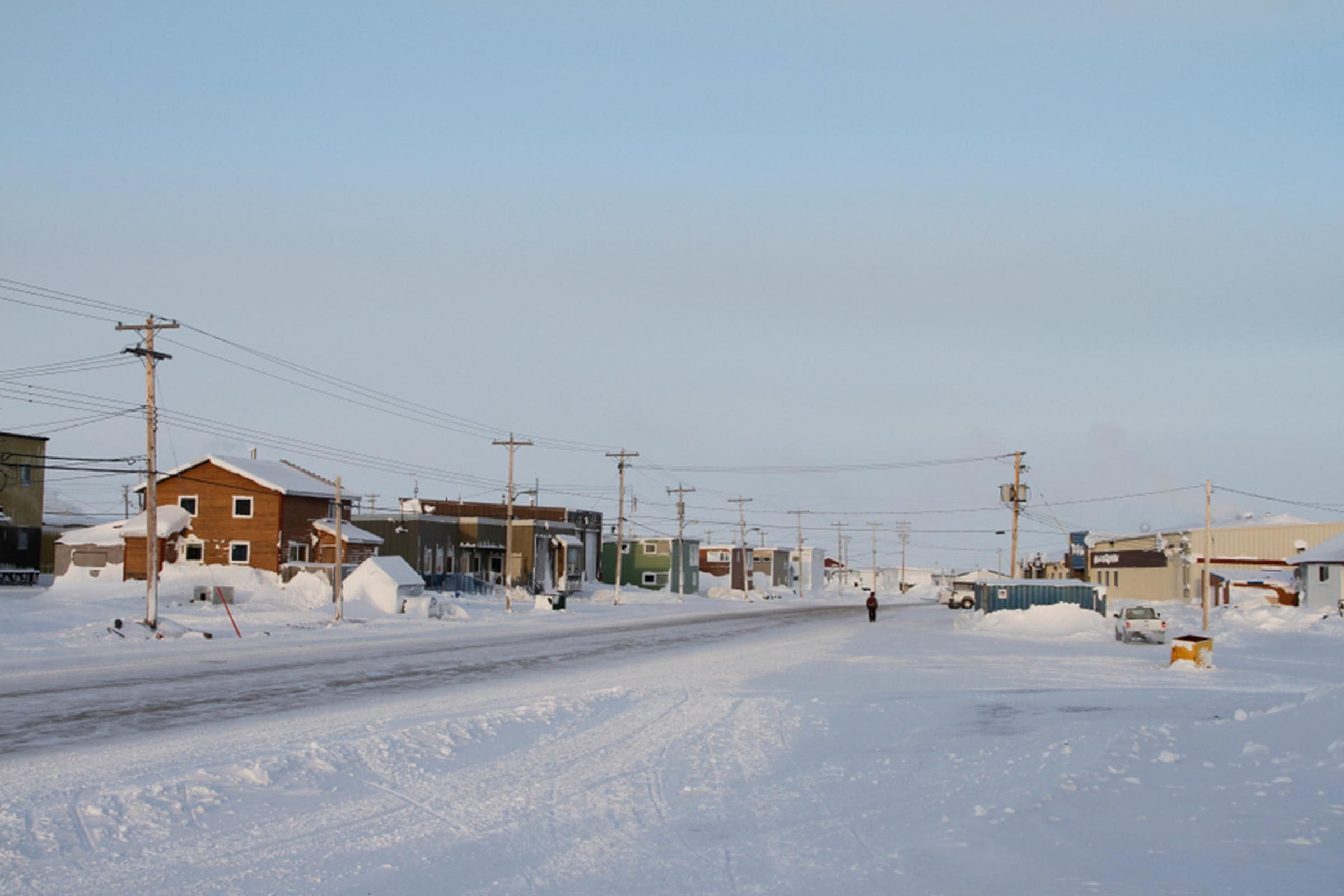 The closest inhabited town to the North Pole