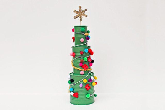 tin can christmas tree craft