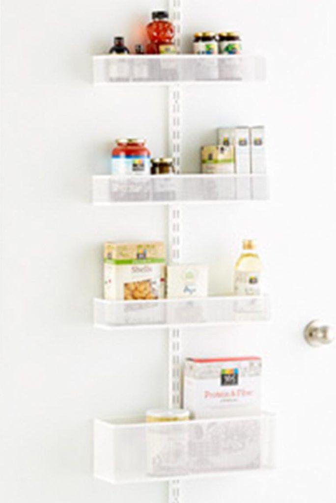 White Elfa Utility Mesh Pantry Door/Wall Rack