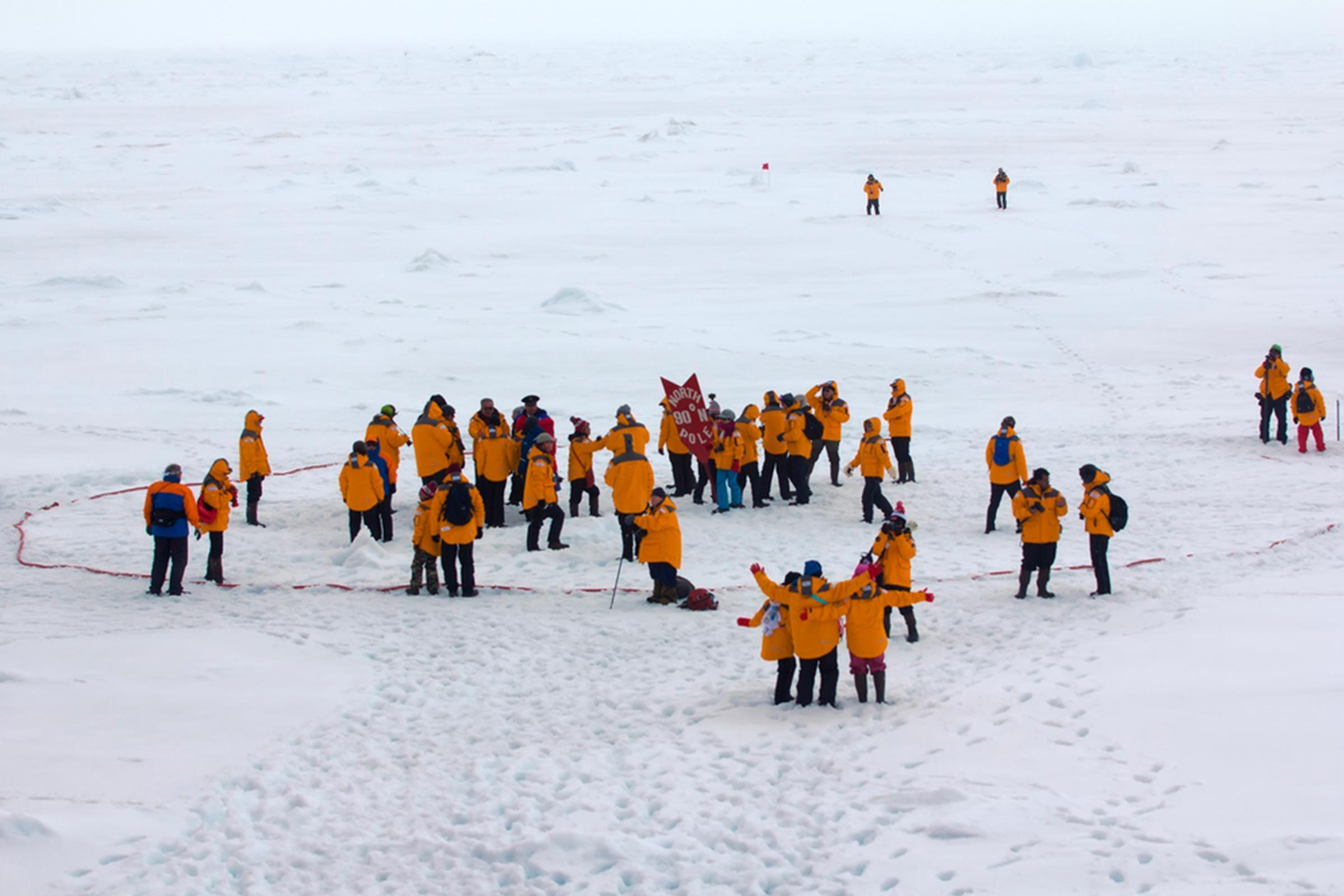 Zero Percent Land at North Pole