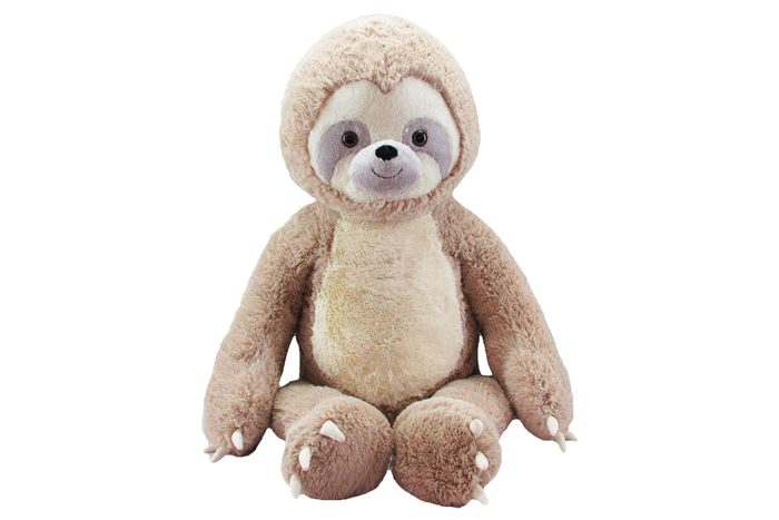 "Bee Happy 52"" Giant Plush sloth"
