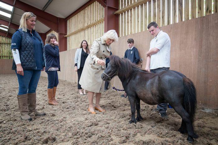 Camilla Duchess of Cornwall visits HorseBack UK, Aboyne, UK - 25 Jun 2019