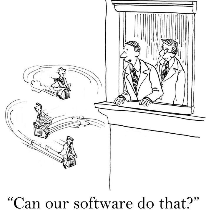 """""""Can our software do that?"""" ...make the computers fly"""