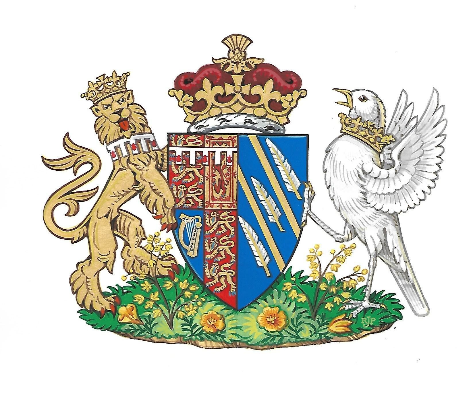 Coat of Arms created for Meghan Duchess of Sussex, UK - 25 May 2018