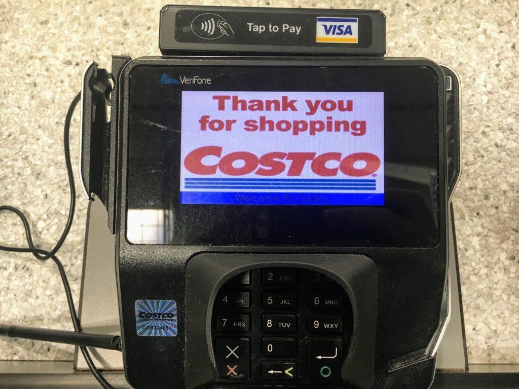 costco credit card machine