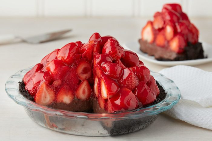 glass pie baking plate