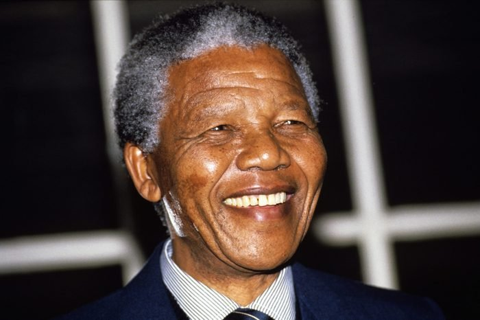 NELSON MANDELA ON A VISIT IN LONDON, BRITAIN - 1990