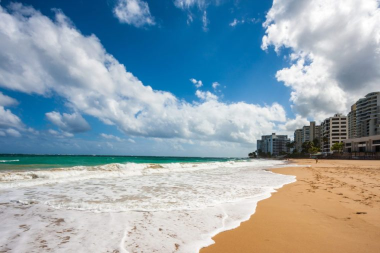 The beach in Condado in San Juan, Puerto Rico, United States.