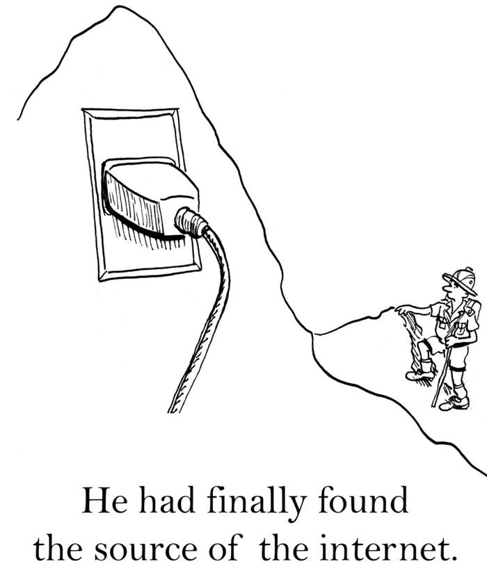 He had finally found the source of the internet.