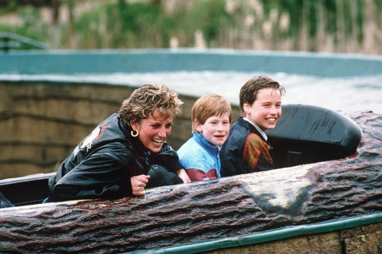 PRINCESS DIANA AT THORPE PARK, BRITAIN - ARP 1993