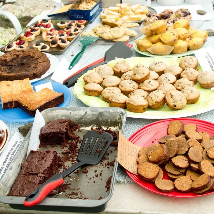 A bake sale is in full progress. All items for sale have been labeled with ingredients for the benefit of those with food allergies.; Shutterstock ID 250520818; Job (TFH, TOH, RD, BNB, CWM, CM): -A bake sale is in full progress. All items for sale have been labeled with ingredients for the benefit of those with food allergies.; Shutterstock ID 250520818; Job (TFH, TOH, RD, BNB, CWM, CM): -