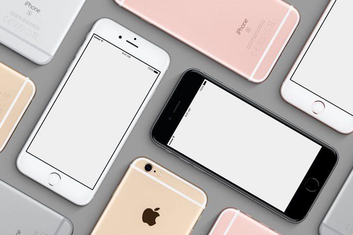 iphone flat lay