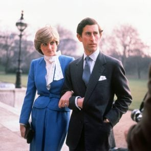 Prince Charles and Lady Diana Spencer on their engagement day