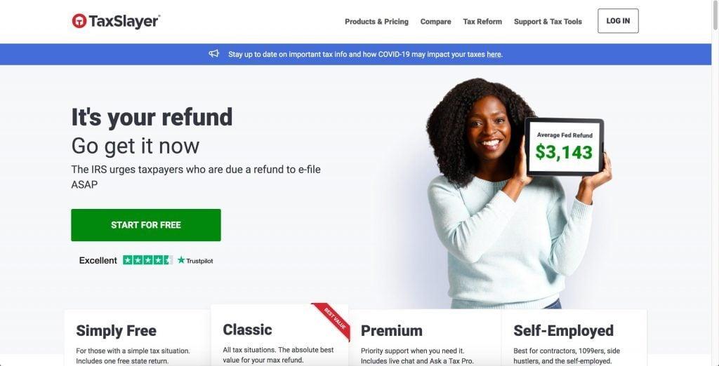 tax slayer home page