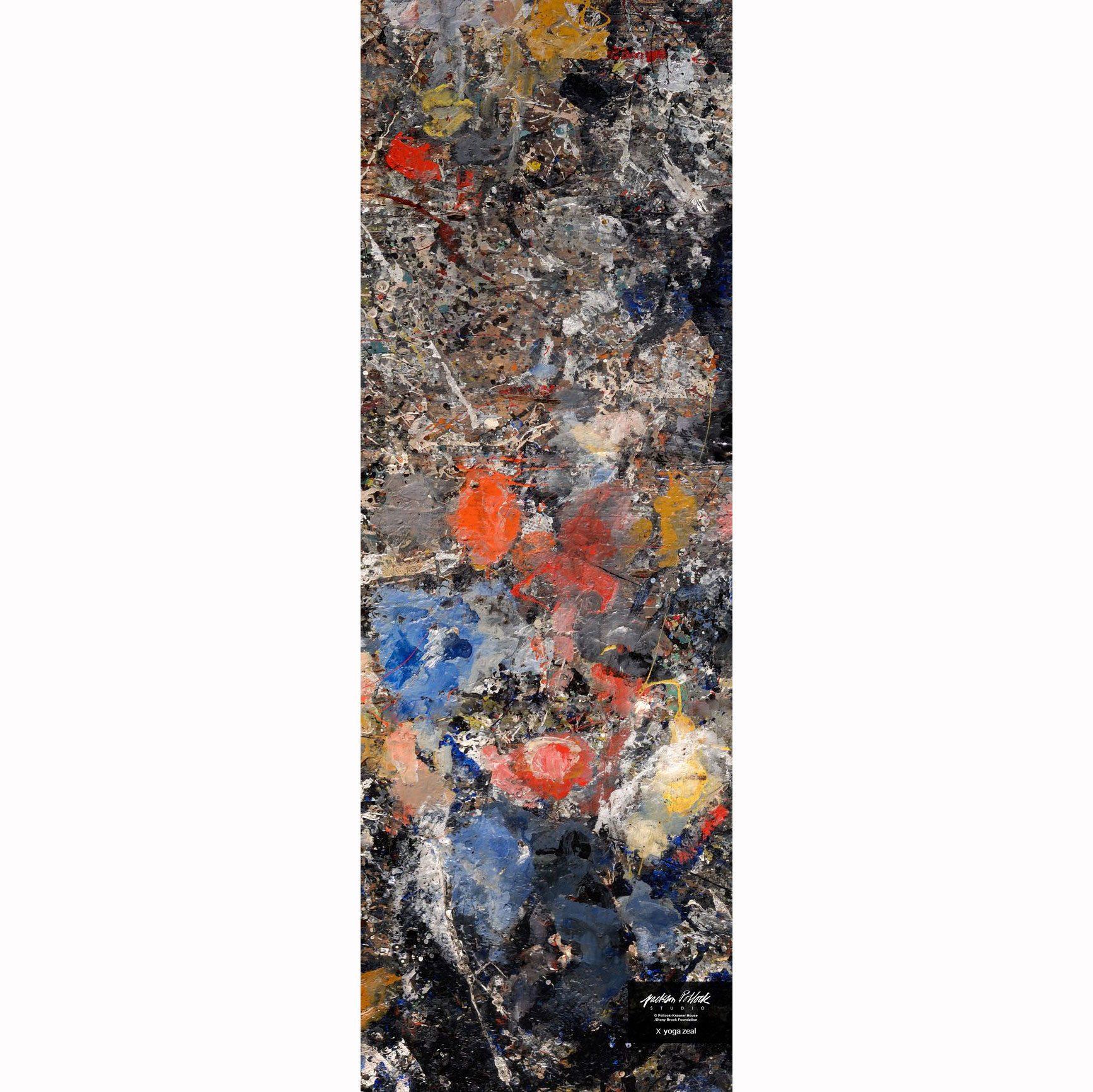 Jackson Pollock Studio Floor Mat x Yoga Zeal