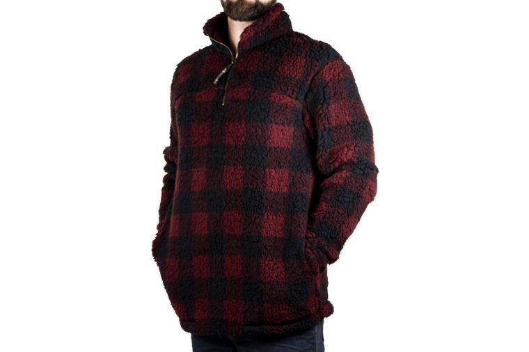 men's alpine sherpa pullover gift